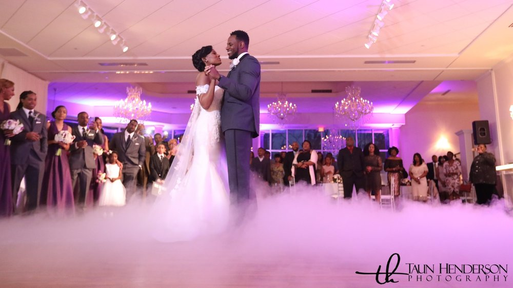 Event Enhancements Featured Uplighitng & Dancing on Clouds - Photographed by  Taun Henderson Photography