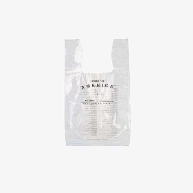 Raf Simons transparent shopping bag, $159,  vooberlin.com .