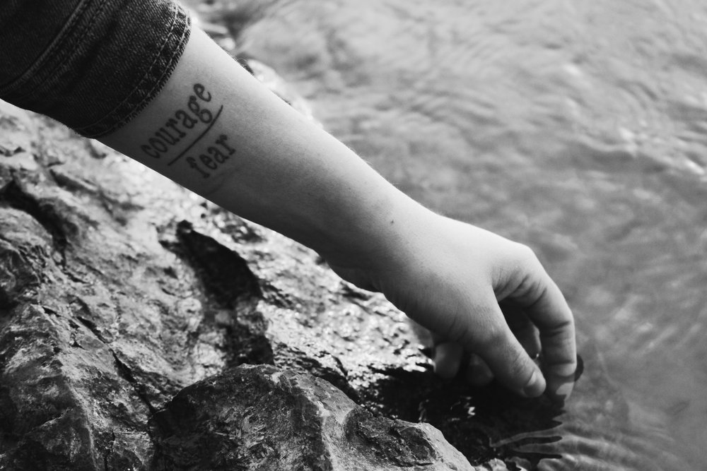 "As a present to herself for her strength and resilience when it comes to her mental illness, Jessica Soehlke got ""courage over fear"" tattooed on her left arm as a reminder to keep pushing herself everyday. She got the tattoo in November of 2016. To her, the message is simple. She says it serves as a daily reminder that her courage to live life will ultimately always overcome her fear to do so."