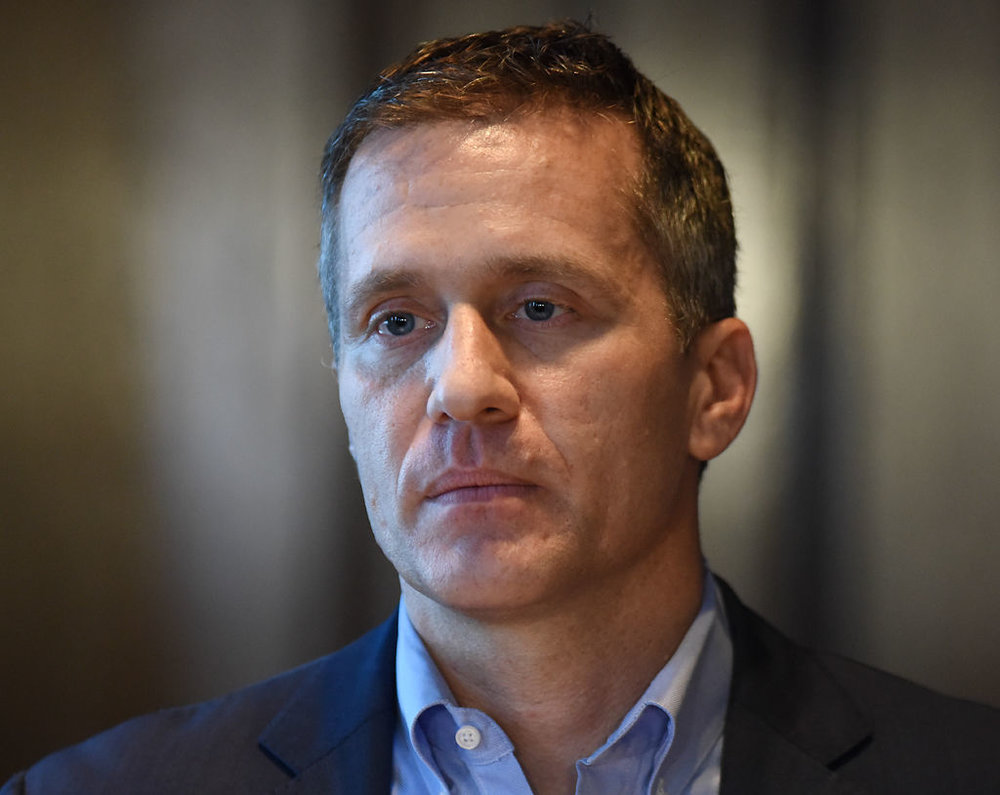 Gov. Eric Greitens condemns the investigation into his indictment on a felony invasion of privacy charge at a press conference Wednesday in his office in Jefferson City. The investigation was made by a special committee in the Missouri House of Representatives. Greitens plans to remain in office; he thanked the people who stood behind him.
