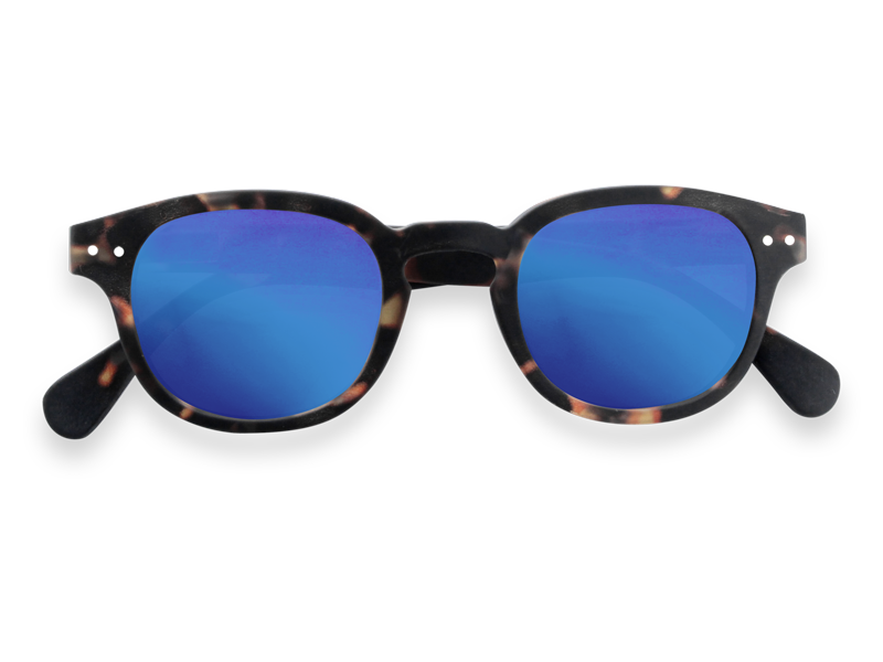 #C TORTOISE BLUE MIRROR LENSES