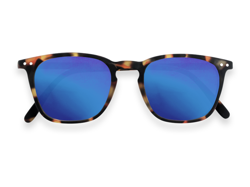 #E TORTOISE BLUE MIRROR LENSES