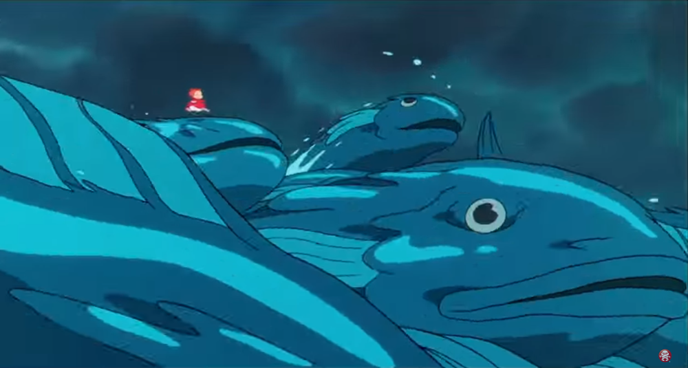 PONYO SURFING ON FISH WAVES