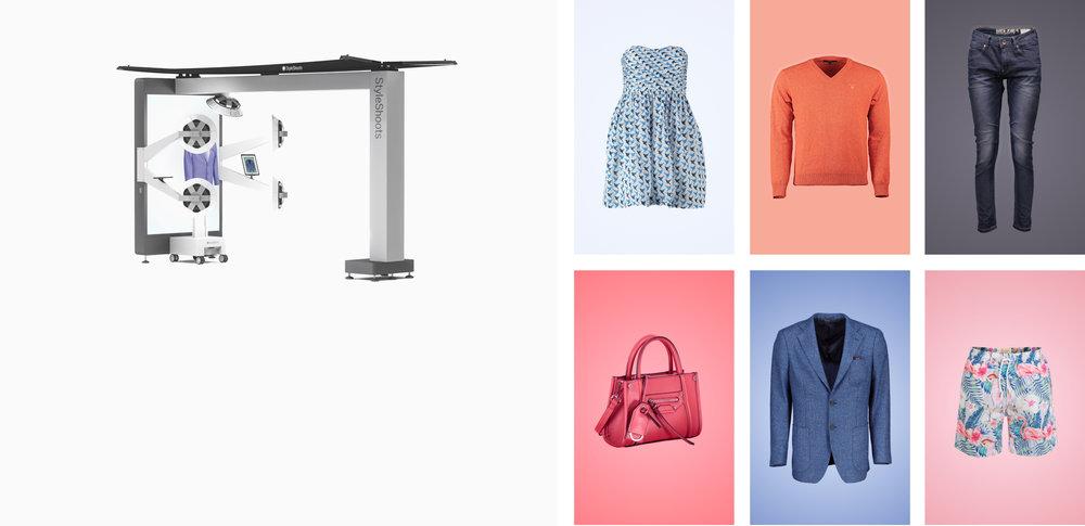 StyleShoots Vertical - Machine tout-en-un pour la photographie surmannequins invisibles. Des photos de haute qualité, en un clic.Je découvre