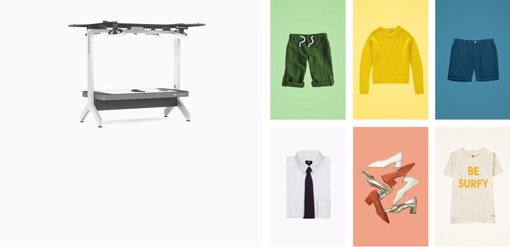 StyleShoots Horizontal - Un studio tout-en-un pour la photographie à plat.Des photos de haute qualité, en un clic.Je découvre
