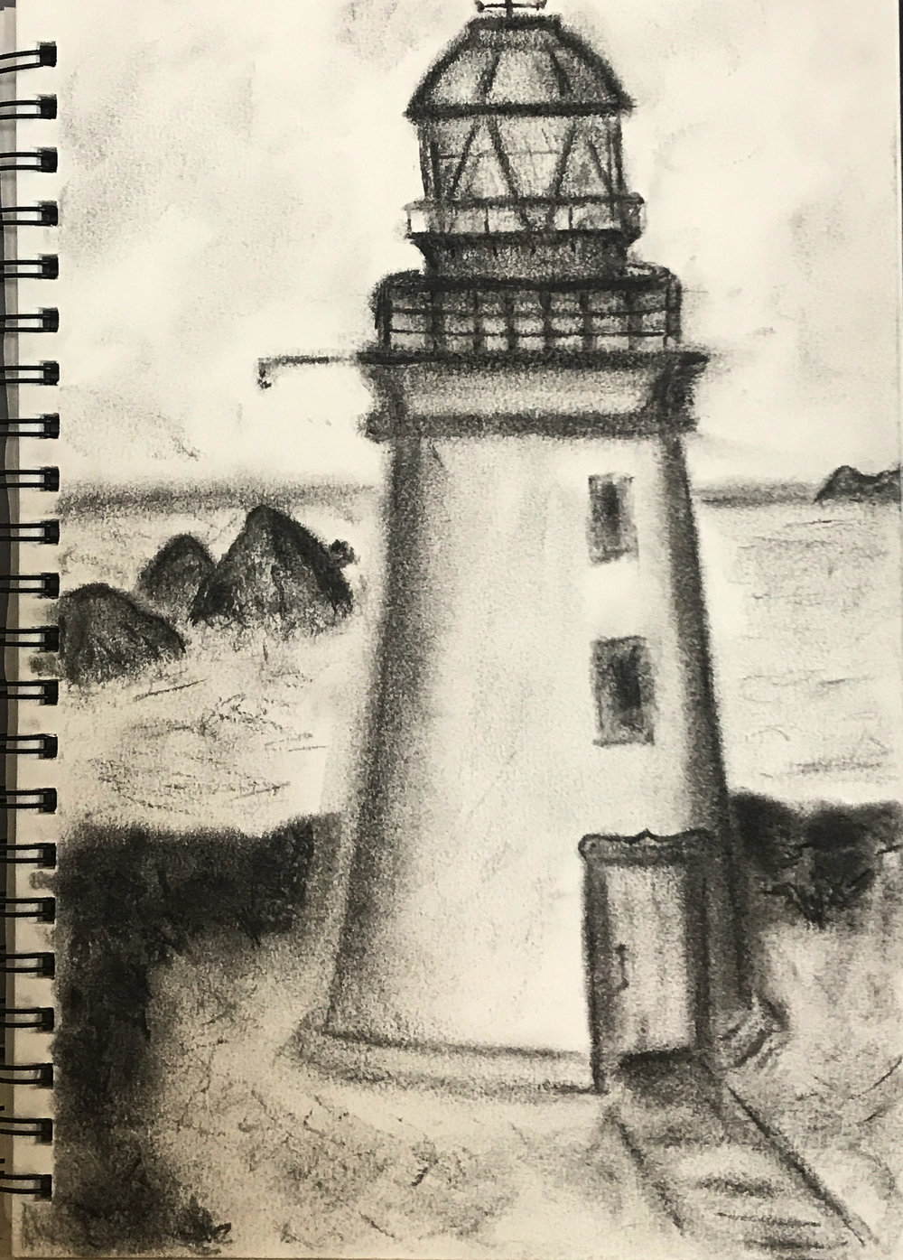 Taylor's drawing of the lighthouse