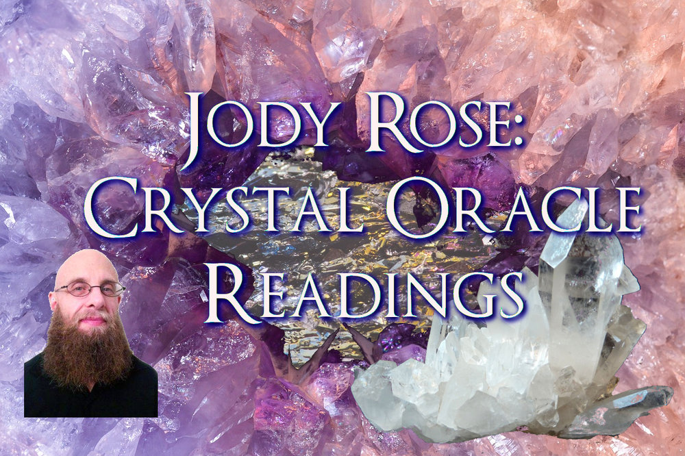 15 minute, 30 minute, and 45 minute crystal oracle readings. Crystals. Oracle decks. Young Living Essential Oils and/or sprays. A small selection of books.