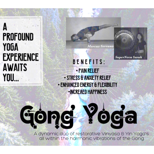 Gong Yoga - A dynamic duo of restorative Vinyasa & Yin Yoga's all within the synergistic harmonic vibrations of the Gong.Sunday (Day 2)1pm-2pm in Room #3 (Maui Room)