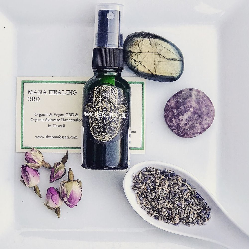 Premium Organi & Vegan CBD Products handcrafted on the North Shore, Oahu with the addition of Reiki charged gemstones.