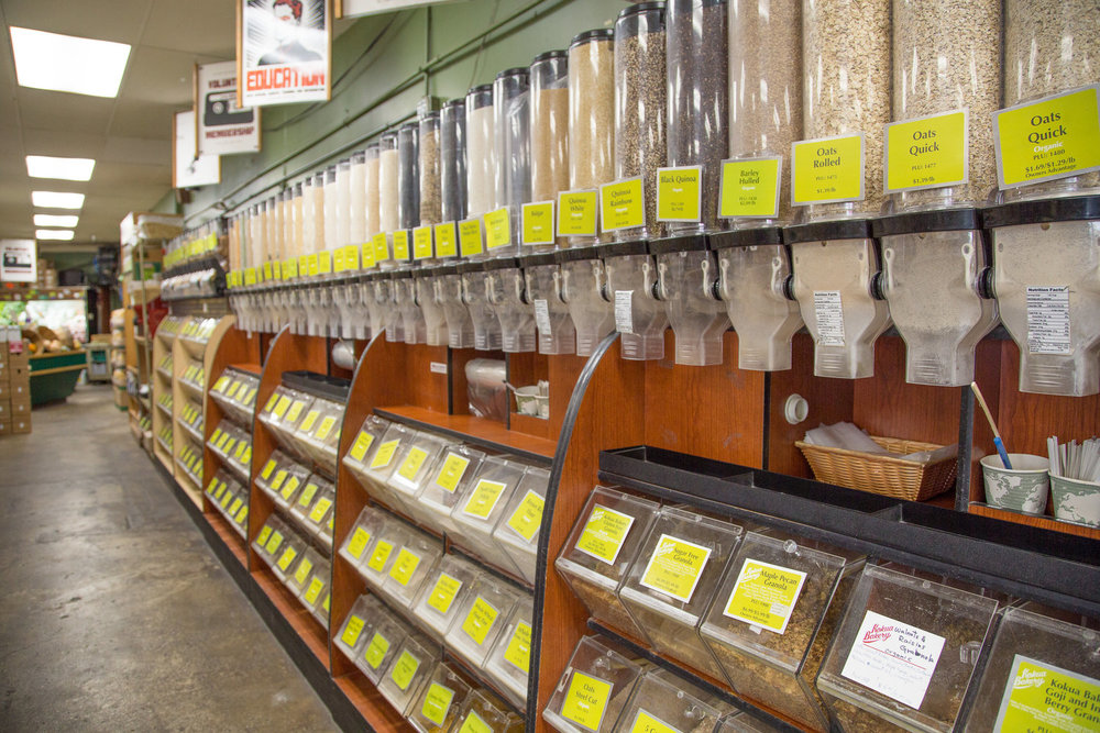 Reduce Waste by Purchasing From Kokua's Extensive Bulk Selection!