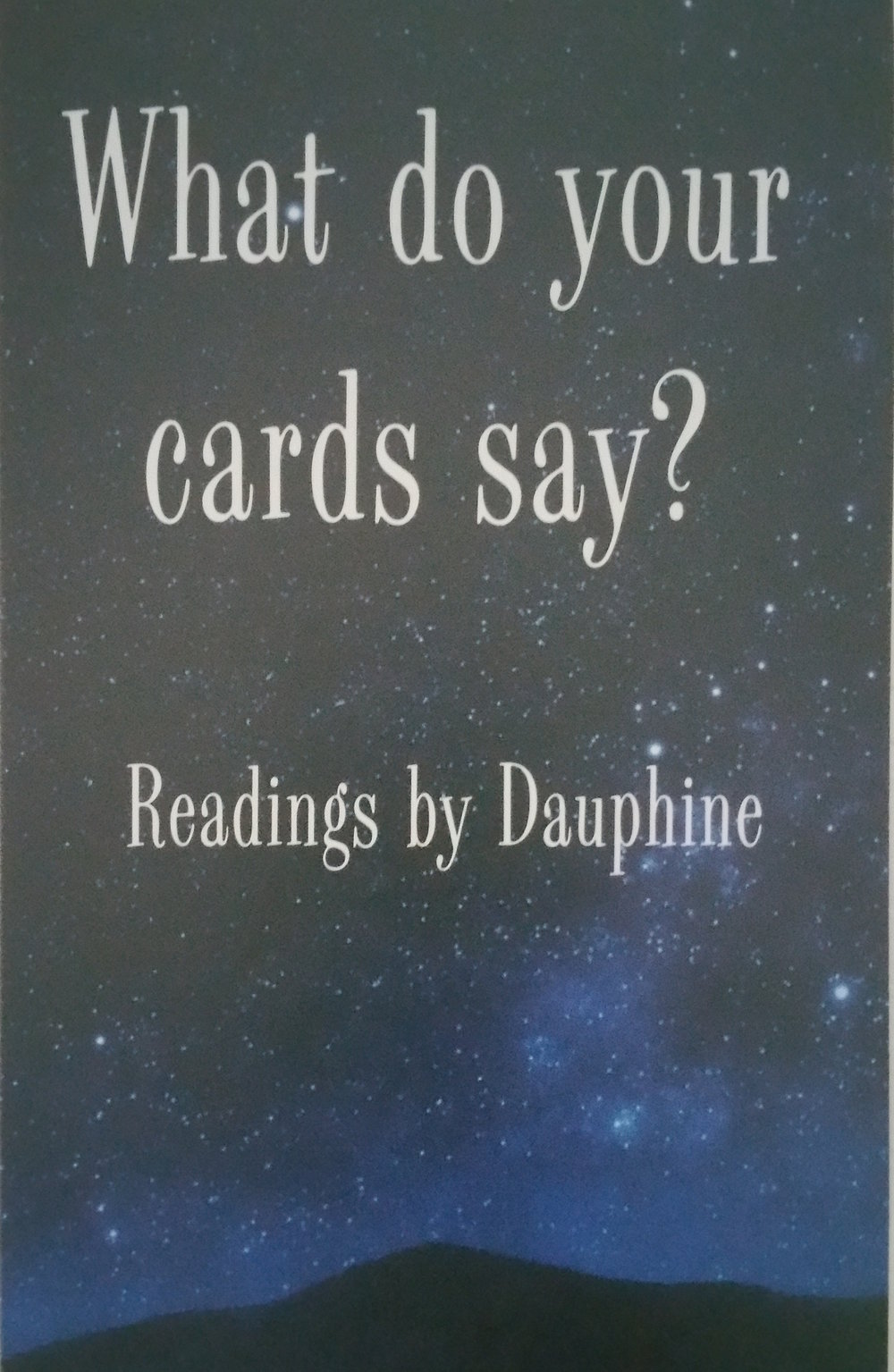 Readings by Dauphine - Booth #14Card Readings, Crystals & Stones, Smudging KitsExpo Special: *Free crystal with card reading*