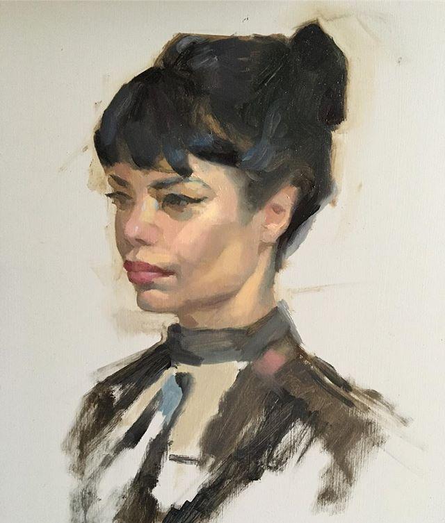 Alla prima sketch of Carla #portrait #allaprima #fromlife #instaart