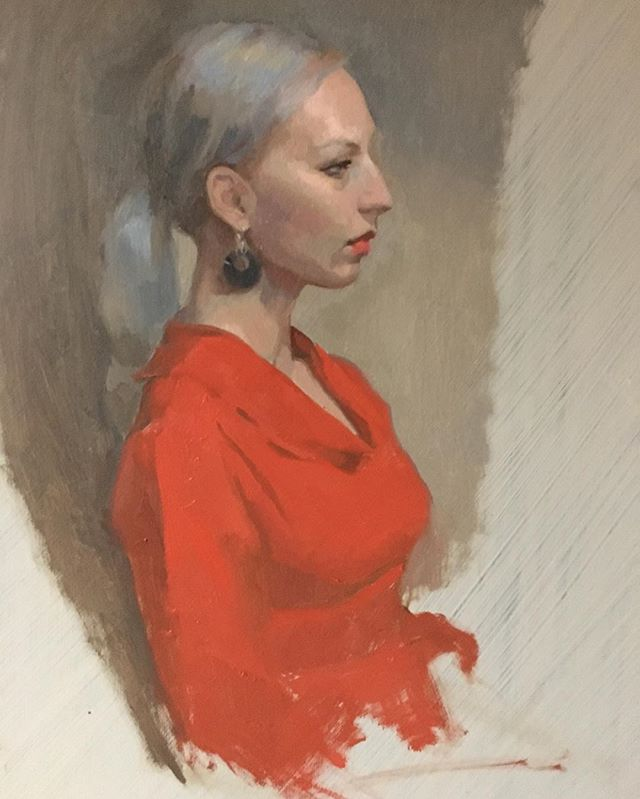 Moving along #wip #portrait #reddress