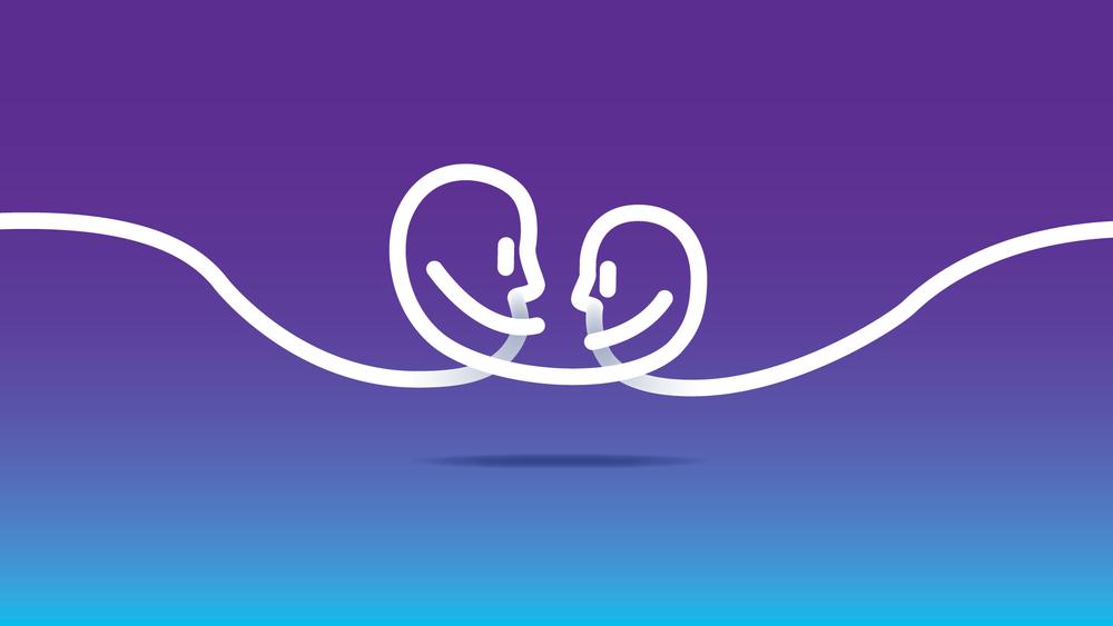 Proximus heeft voor een heel opvallende paarse kleur gekozen met witte lijnen. In verschillende variaties drukken ze altijd hun boodschap uit: ze staan dicht bij hun klanten en zorgen met een sterk netwerk dat hun klanten ook onderling altijd de beste connectie hebben.