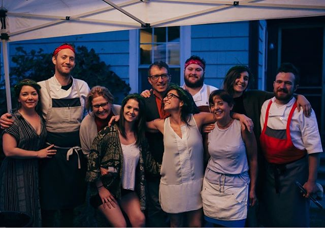 A lovely photo by @hopestatestyle of the crew at the first Dinner Bell pop up. What a fun night. Thanks to all our fantastic friends.
