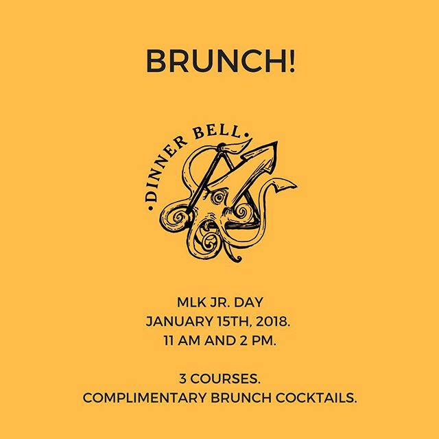 Join us for our maiden Brunch voyage. Two seatings on MLK Jr Day. Complimentary Bloodies and Mimosas! Ticket Link in Bio.