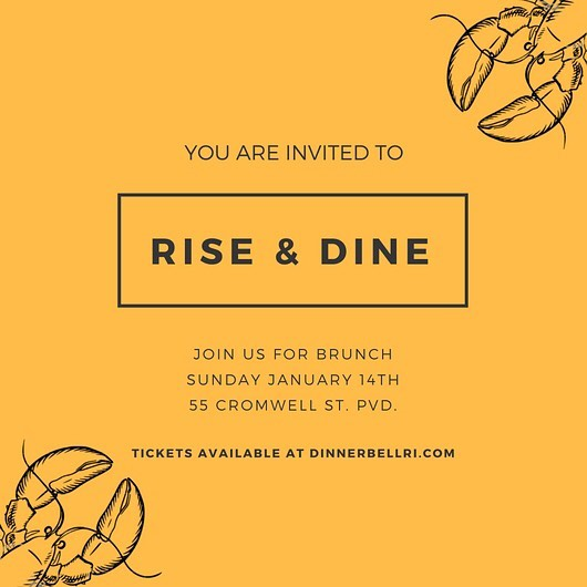 Sunday January 14th! Join us for Brunch at @pilotworksprovidence  We'll have complimentary bloodies and mosas and lots of good grub! #pvdeats