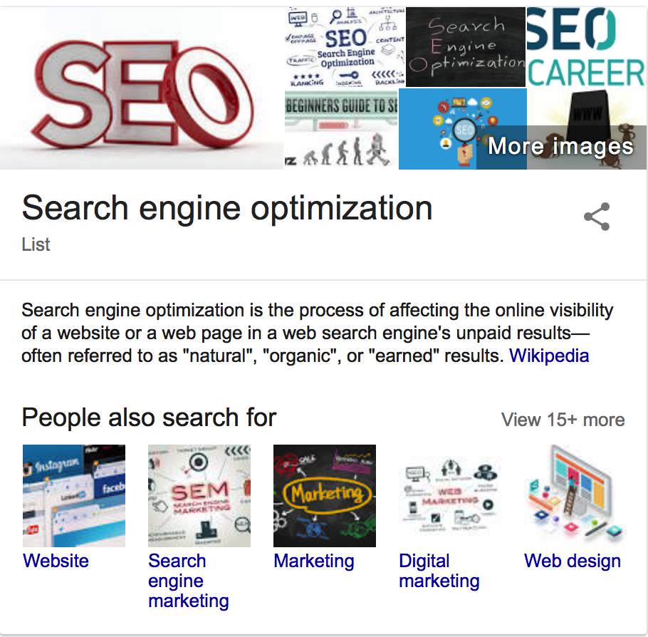 SEO definition image from wikipedia
