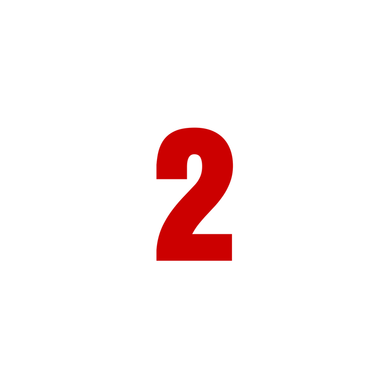 The number 2 in bold red font