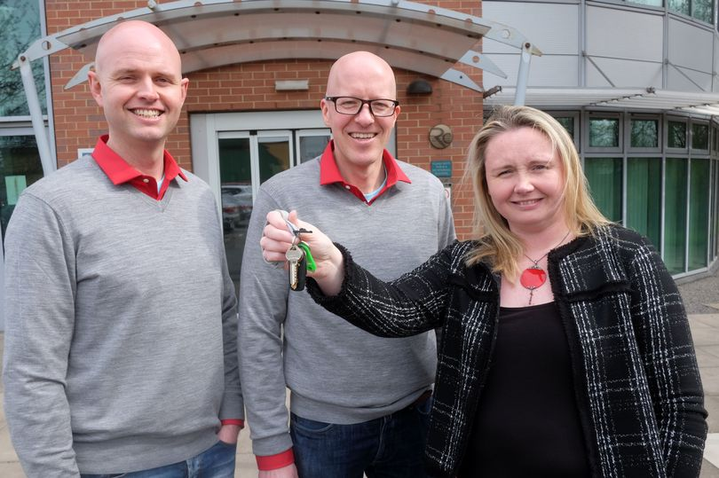 Matt Dowling, Darren Winter from Duco Digital with Sarah Thorpe from UK Steel Enterprise
