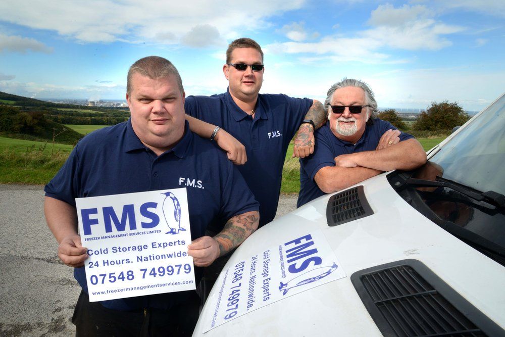(From left) Andrew, Michael and Derek Gascoigne are celebrating a major contract win and a 10thanniversary for Freezer Management Services Ltd.