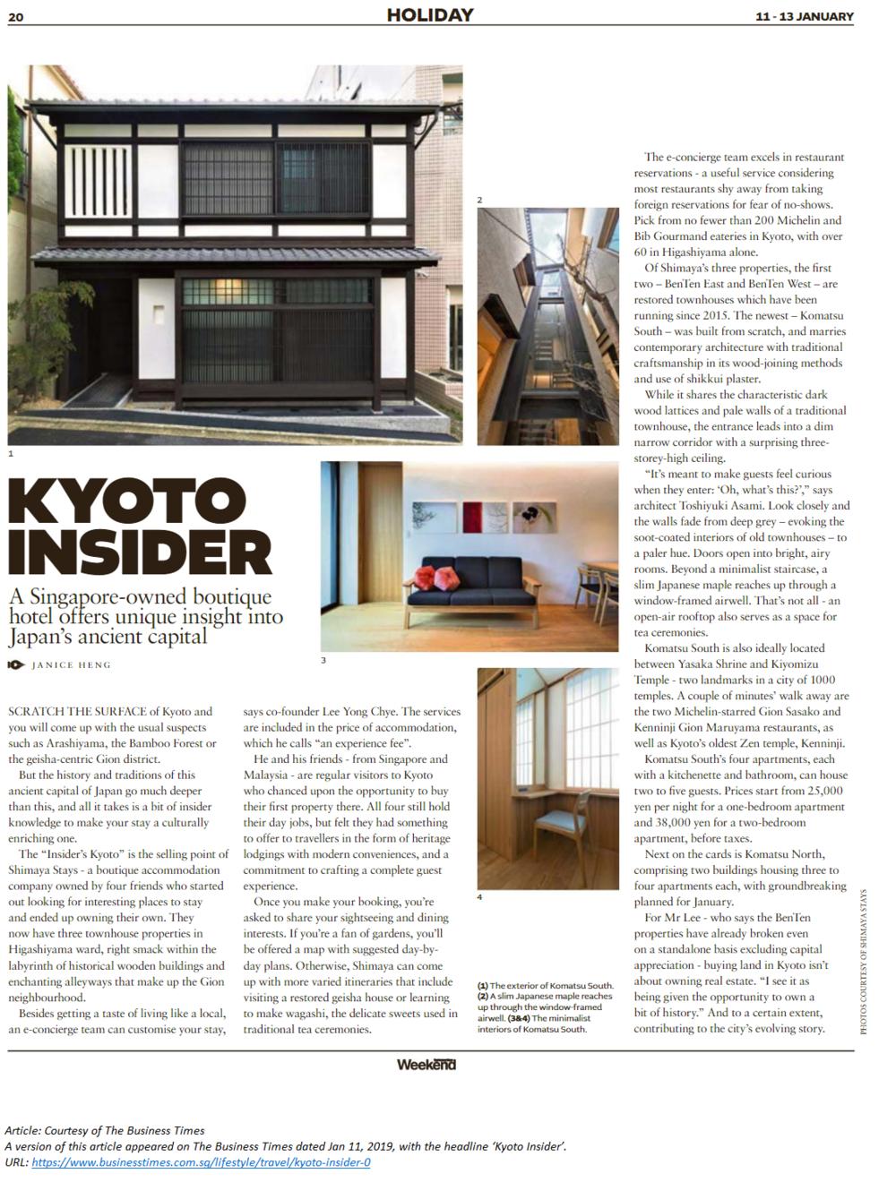 Shimaya Stays - Kyoto Insider