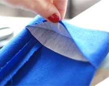 hem with interfacing -