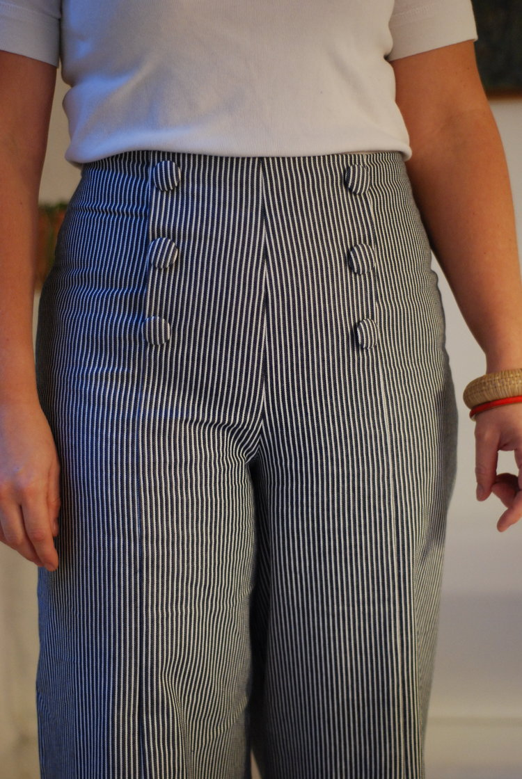 how to sew th sailor trousers -