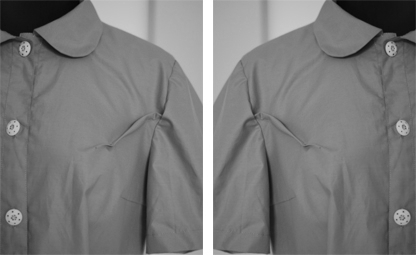 to much fabric at armscye -