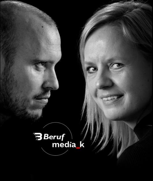 Mød dit nye Mediehus MediaK og Beruf har sammen skabt et nyt mediehus… - …hvor vi som to virksomheder med hver vores kompetencer kan dække alle de behov, du måtte have, gældende marketing og kommunikation. Alt sammen under samme tag.