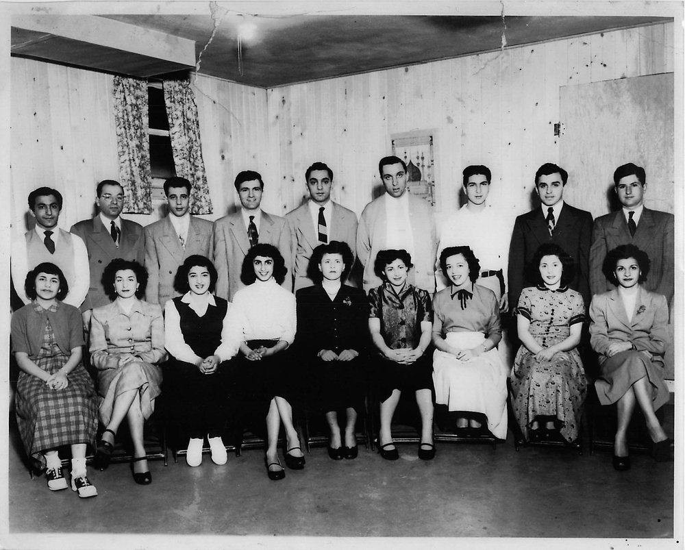 Young members of the community, 1952. Courtesy of Islamic Center of Cedar Rapids