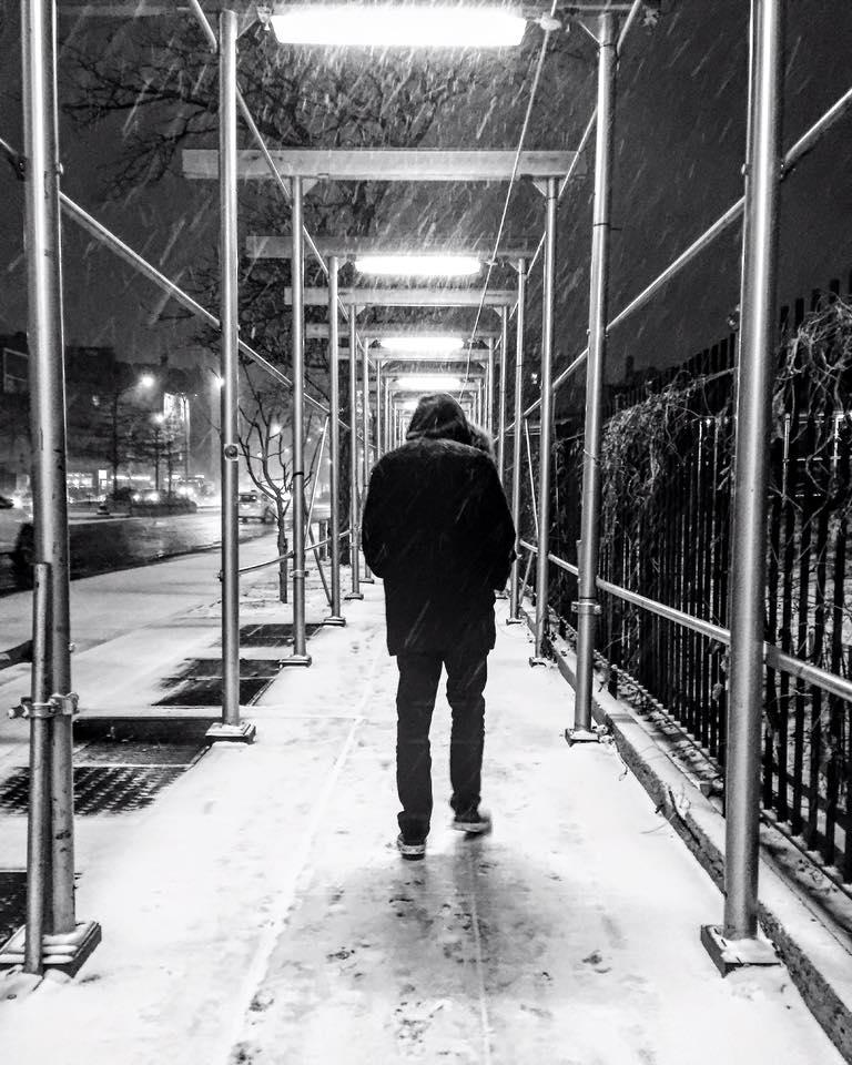 Houston Street Snowstorm -
