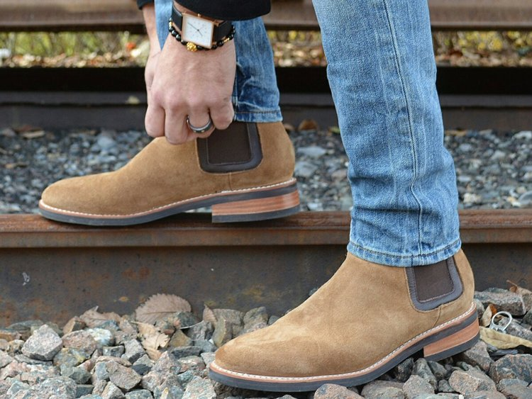 Boots - Love a man in boots! Give the loafers and sneakers a rest and try a cool pair of boots to create a fresh fall look. The chelsea style (shown) is probably the most popular among men and sleek enough to wear with casual looks, such as jeans and a sweater, or dress up with slacks and, ahem, a sports coat. Need more direction? Check out this article.