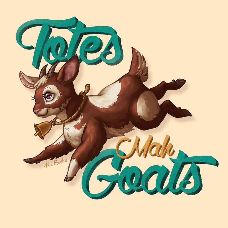 Totes Mah Goats - Alex Boake Illustration