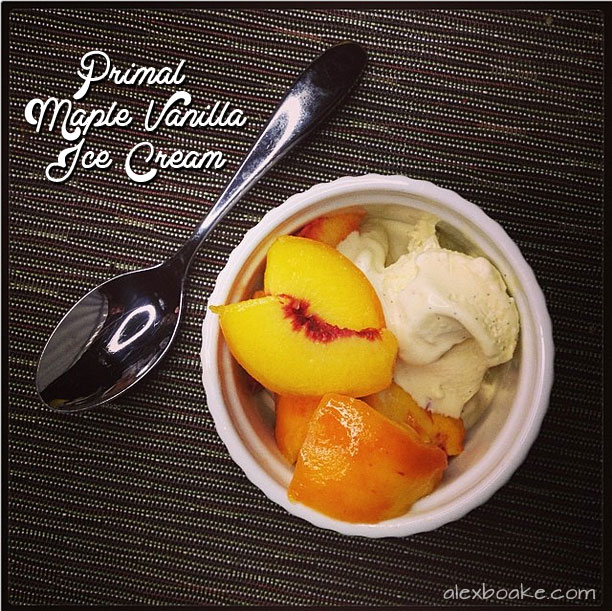 Alex Boake's Primal Maple Vanilla Ice Cream