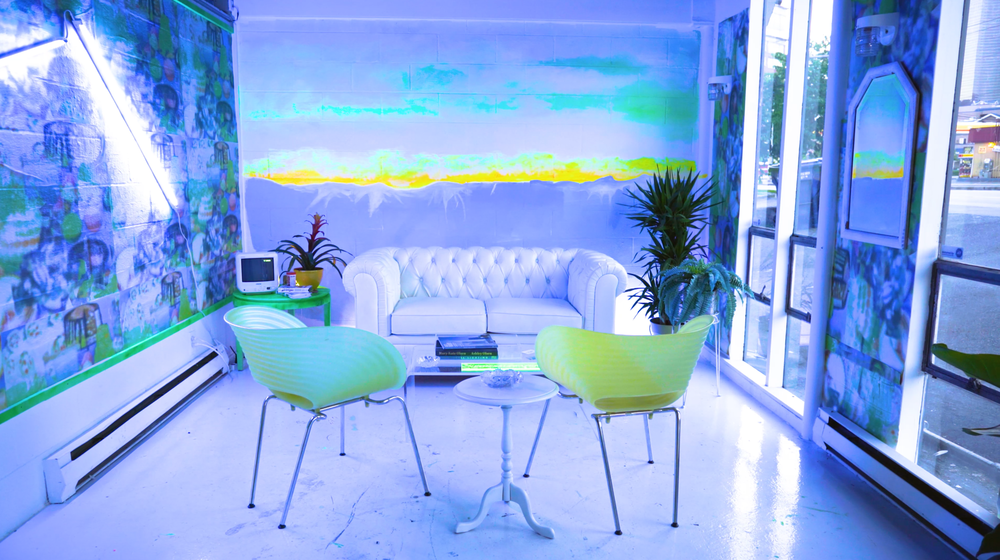Dougherty's atemporal aesthetic leaves the screen in UNVIRTUAL,an interactive installation featuring three lush interior spaces.