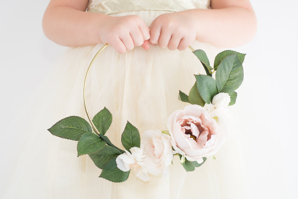 FLOWER GIRL HOOP BOUQUET — Lovely Days
