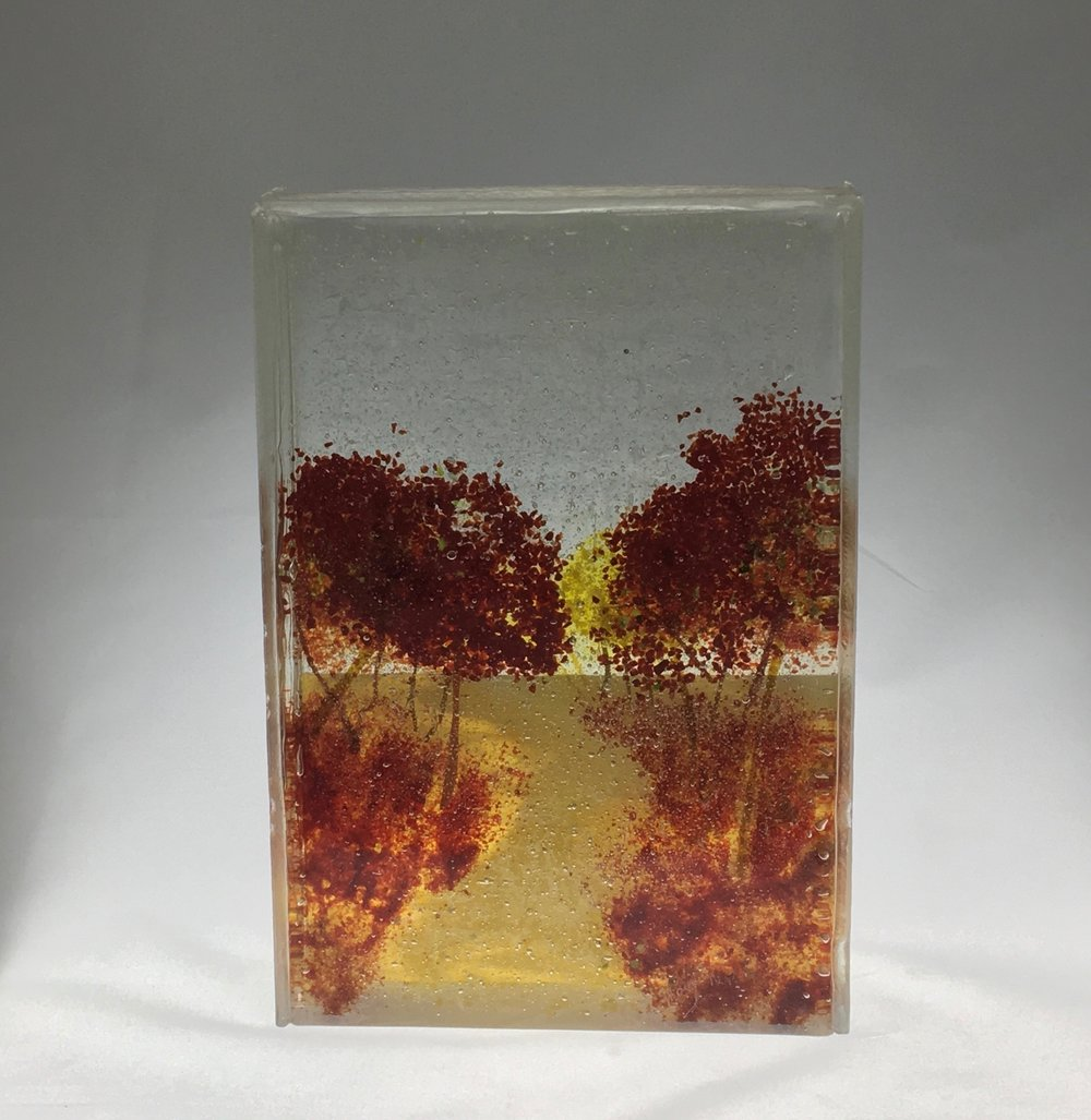 "Brilliance of Autumn - 9"" x 6 3/8"" x 2"""