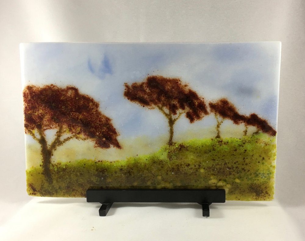 "Tree Line in Fall - 9"" x 14 1/2"""