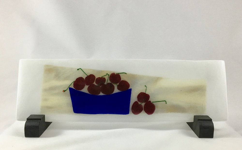 "A Bowl Full of Cherries - 4 3/8"" x 13 7/8"""