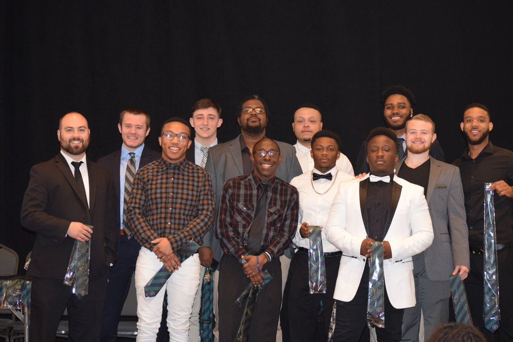 (Co Advisor: Daniel Schwartz)  Our 2016-2017 newly inducted members from Left to Right): Charlie Franks, Austin Halterman, Juwan Guinyard, Gene Queen, Adam Scott, Tyus Garcia, Malik Potts, Shaiyke Jordan, Devon Hightower, Joshua Ofori
