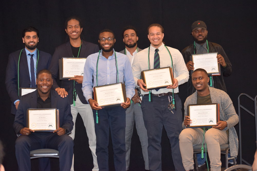 Class of 2017:  From Left to Right: Shazad Chauldry, DJ Carmon, Kennedy Akwo, Jarret Bragg, Alexander Cahill, Vee Kromah, KJ Renfroe, and Edward Bennett