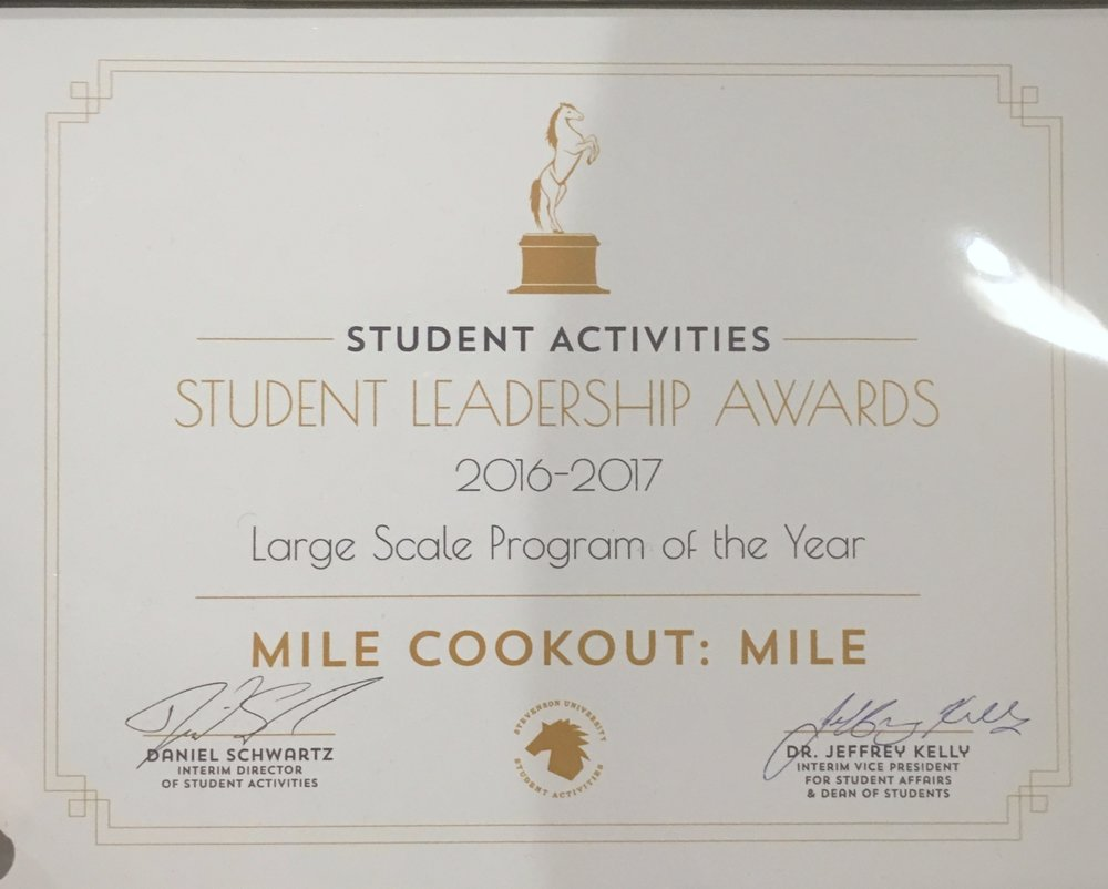 With The Cookout Pt II, MILE won the Largest Scale Program of the Year!