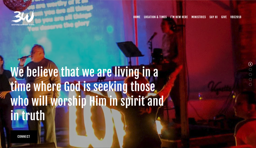 3W Church Website designed by IAMagine