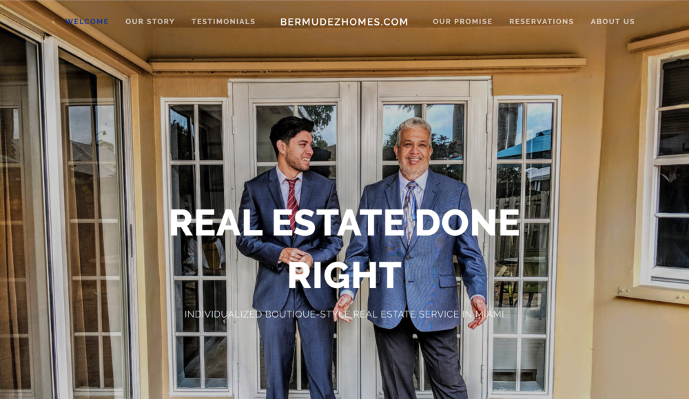 Bermudez Homes Website designed by IAMagine