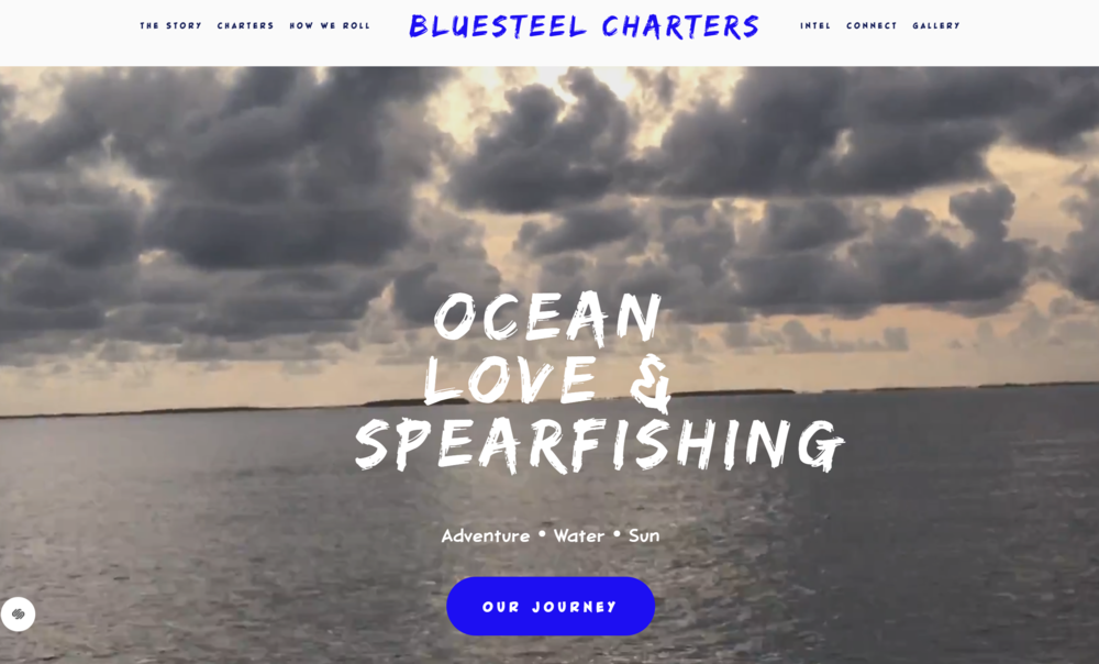 Bluesteel Charters Website designed by IAMagine