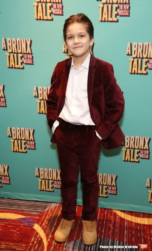 "Hudson pictured at ""A Bronx Tale"" opening night."