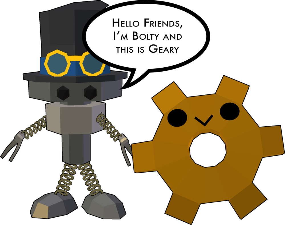 Hello, we are Bolty and Geary. -