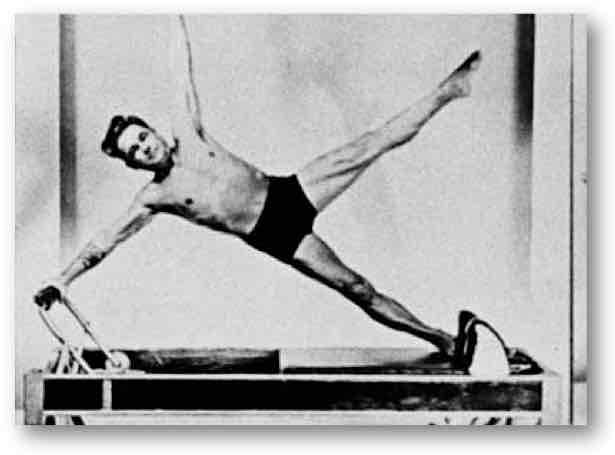 Joseph Pilates on a Reformer