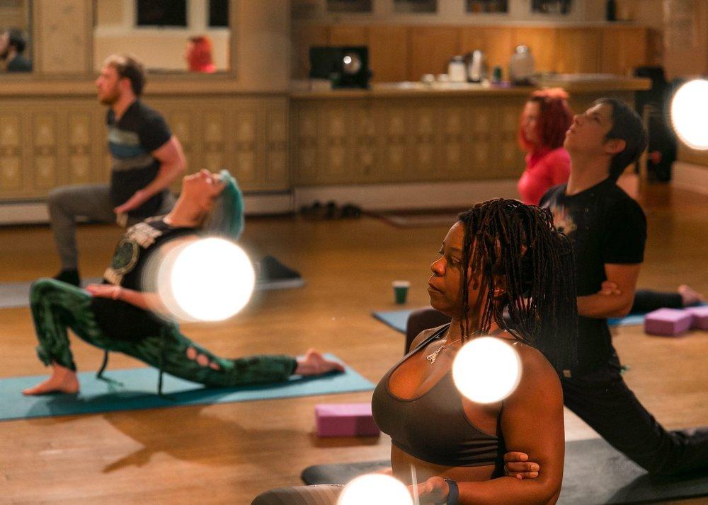 CBD yoga group class